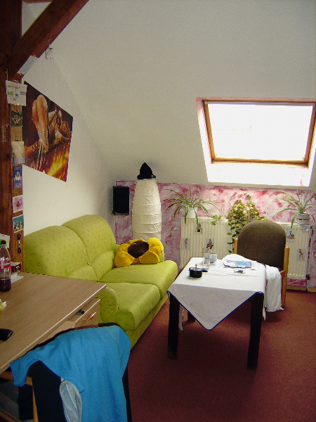 Alle substituierte Bewohnerinnen des Regenbogen haben ein Einzelzimmer.