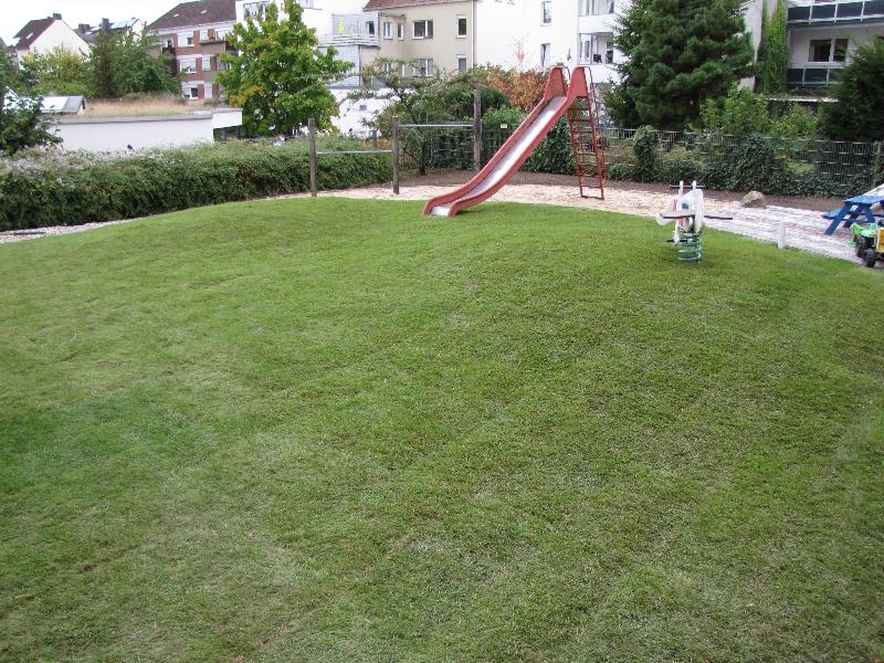Der Garten des Mutter-Kind-Hauses