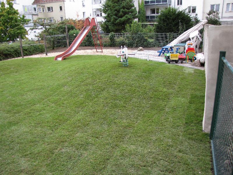 laufen und toben im Garten